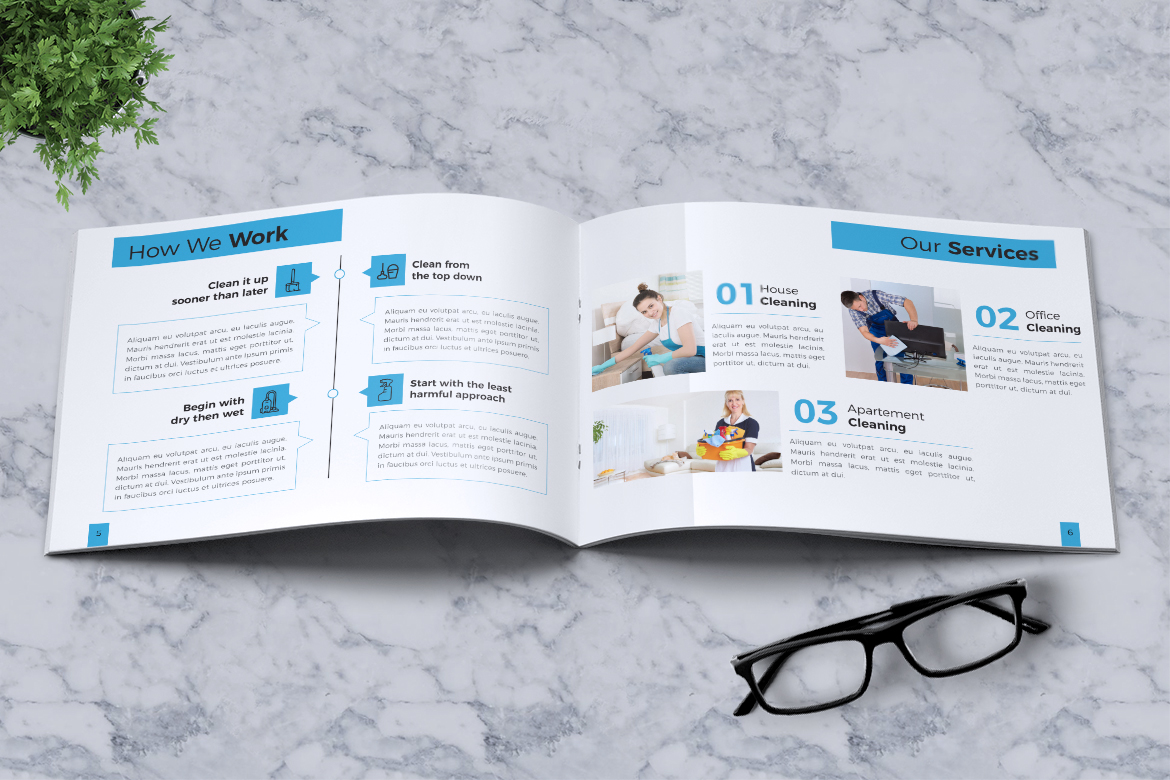 Cleaning Service Company Brochure example image 6
