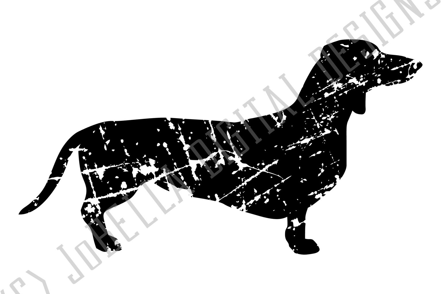 Grunge Dachshund SVG and Printable Dog Lover Design example image 3