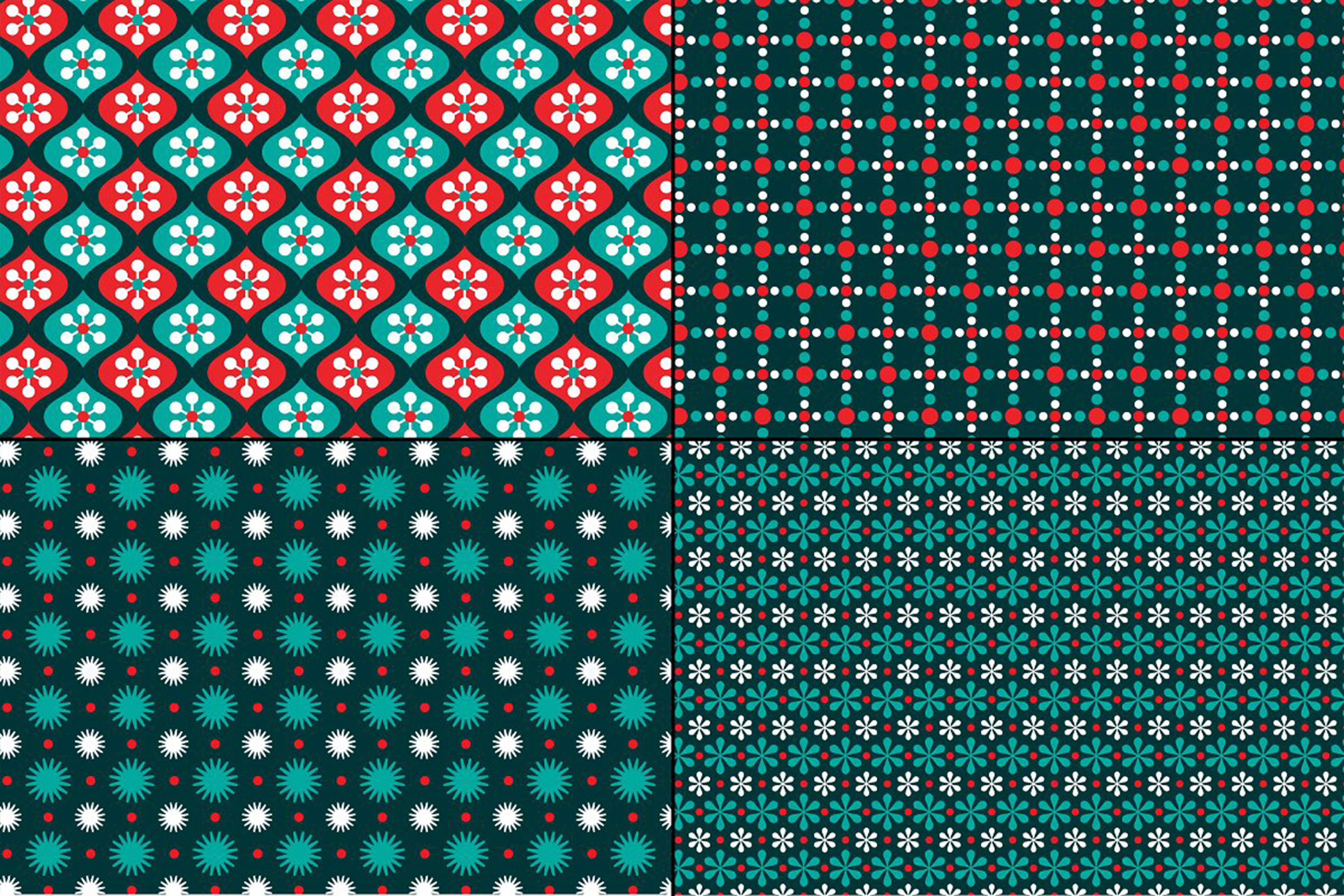 Small Seamless Holiday Patterns example image 3