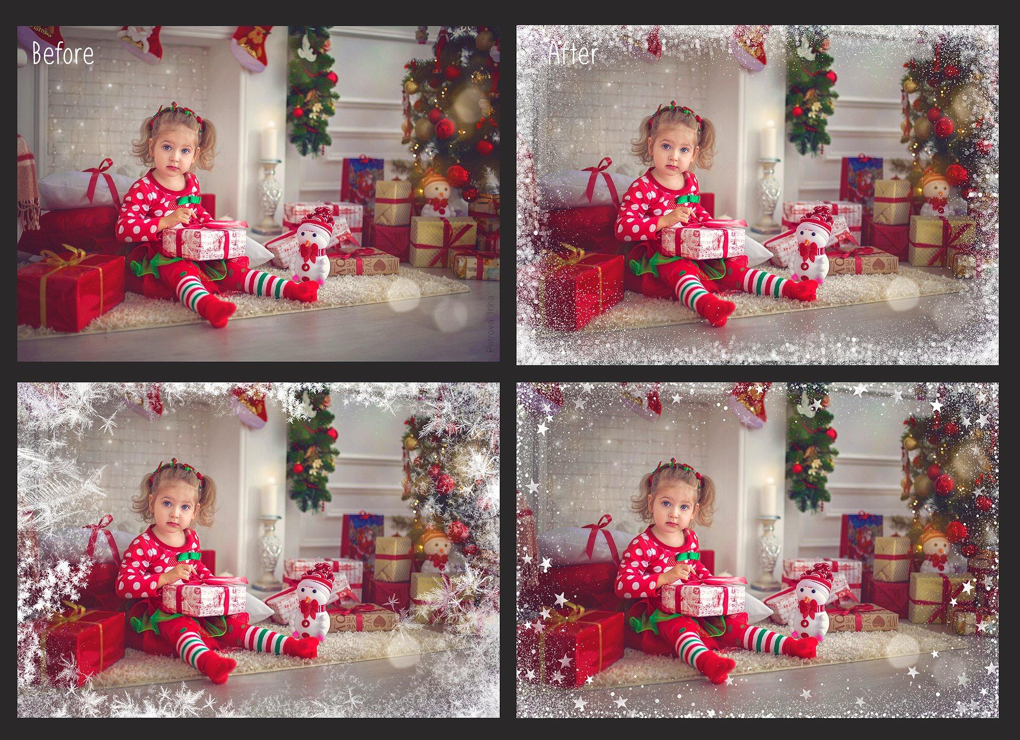20 Christmas Photo Overlays example image 2