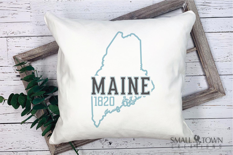 Maine, Vacationland - slogan, Logo, PRINT, CUT & DESIGN example image 7