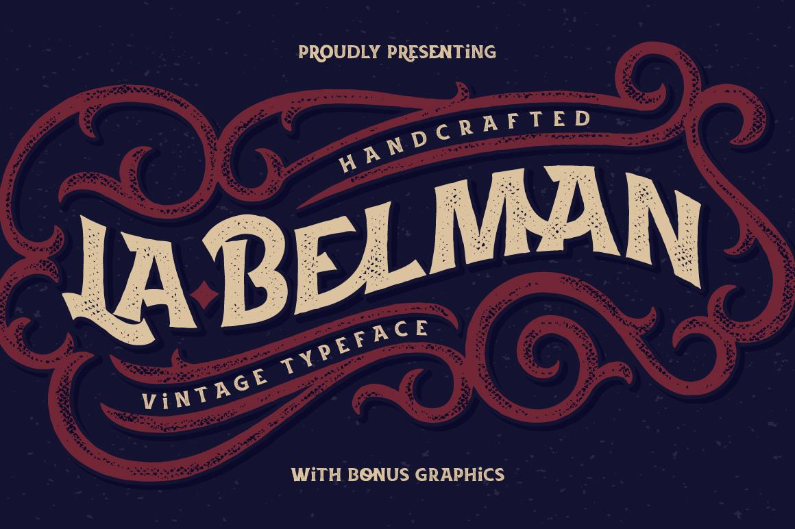 La Belman font & bonus example image 1