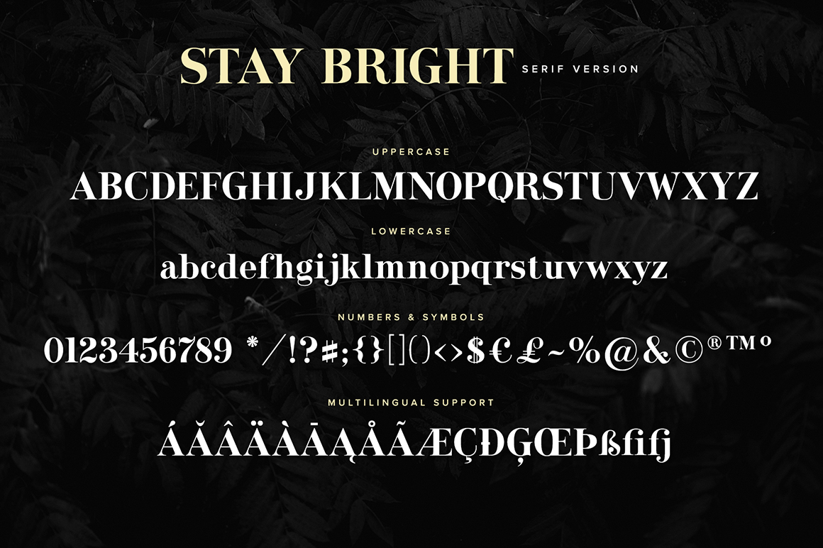 Stay Bright Font Duo example image 2