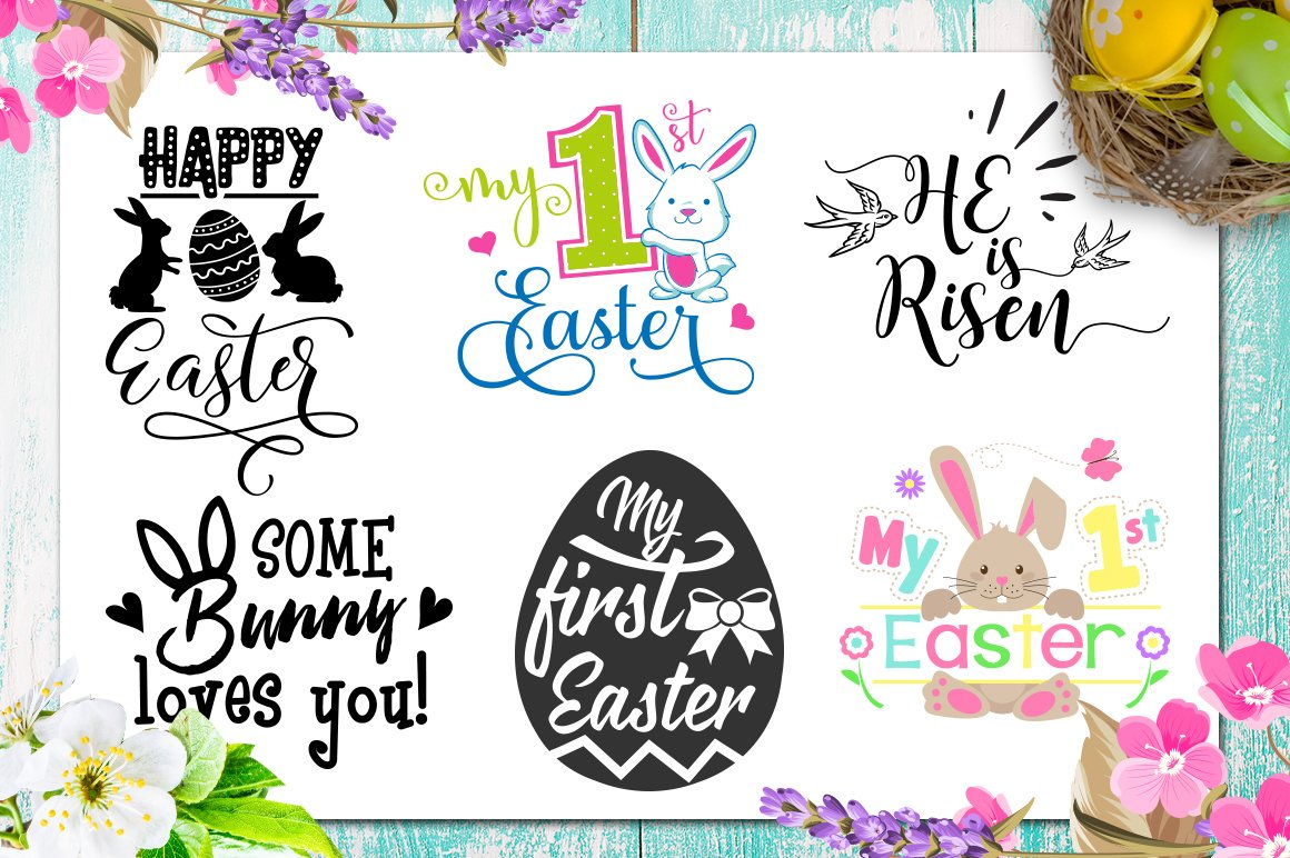 Easter Bundle - 30 Easter SVG files Bundle Easter SVG file example image 6