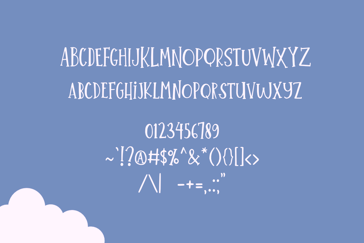 Little Summer Cute Font example image 2