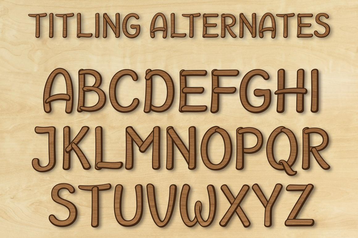 Brazilian Script LAYERED FONT example image 14