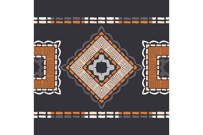 Zebra stripes. Ethnic boho ornament. 10 seamless patterns. example image 7