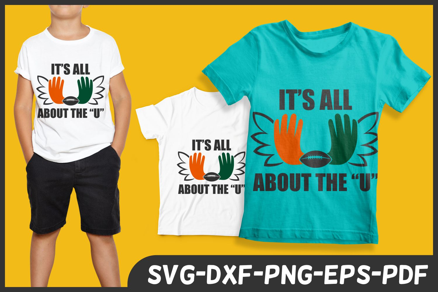 all about the U hurricanes football lover svg dxf png tee example image 1