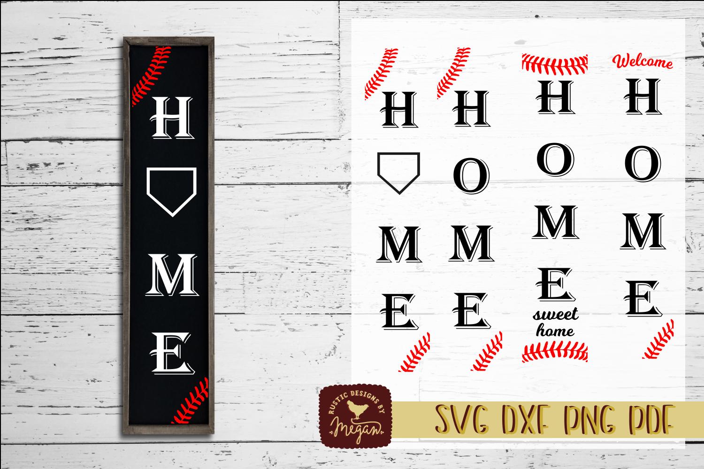 Home Baseball SVG DXF example image 1