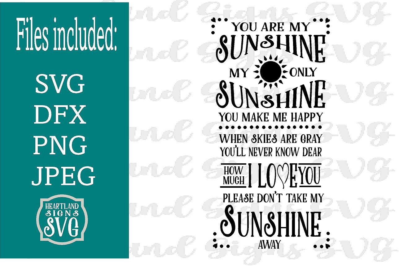 You Are My Sunshine SVG Nursery Decor New Baby example image 1