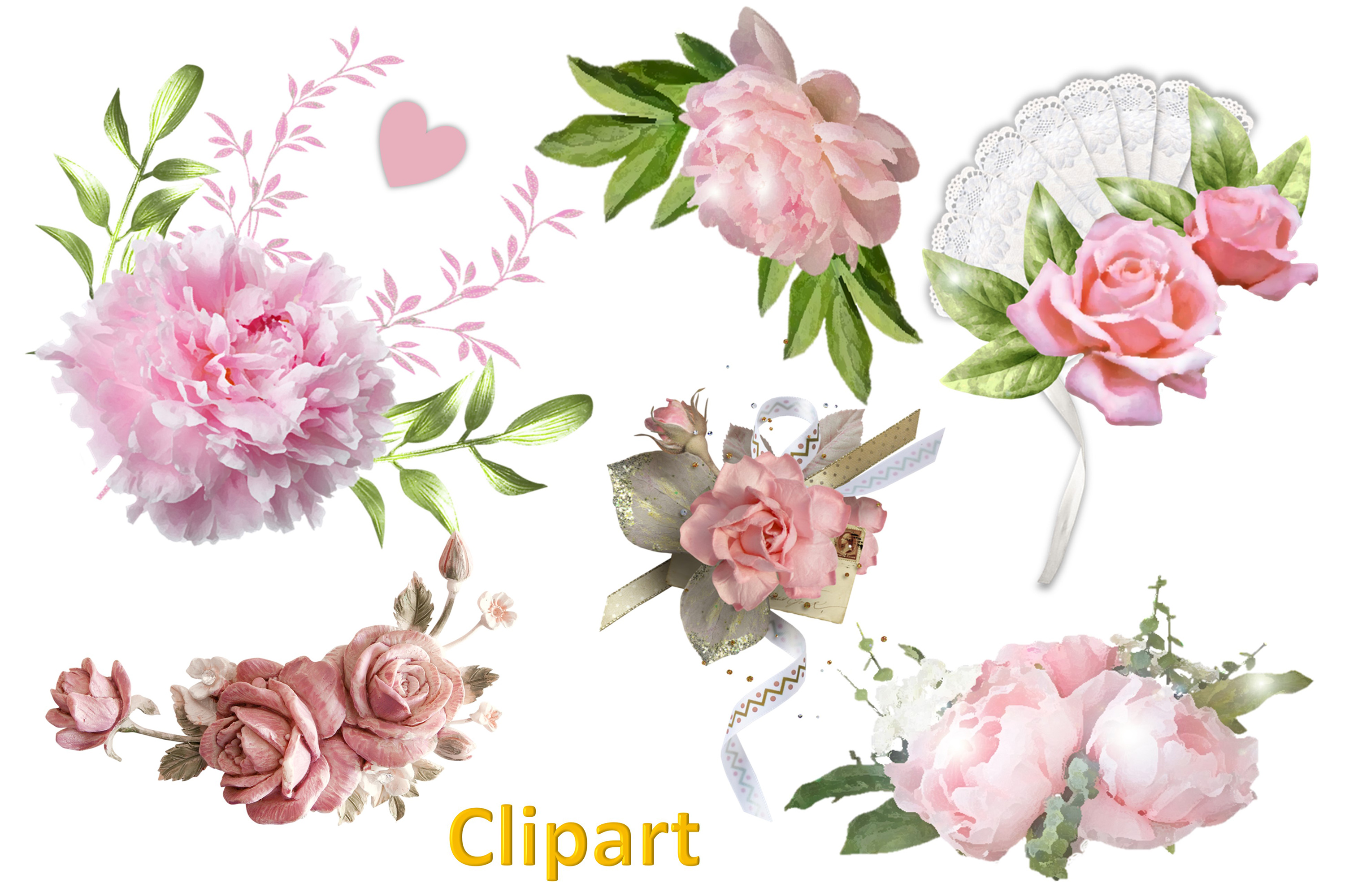 Shabby Chic Vintage backgrounds, Ephemera and Clipart Pmgs example image 10