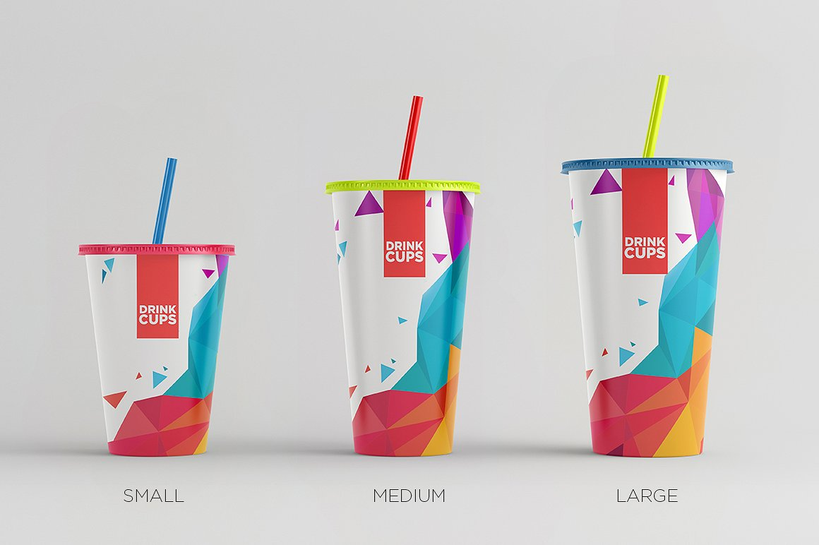 Drink Cups Mock-Up example image 1