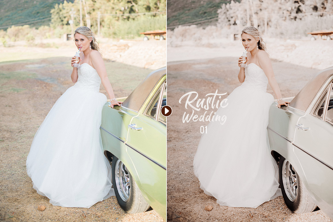 50 Rustic Wedding Presets for Lightroom & ACR example image 5