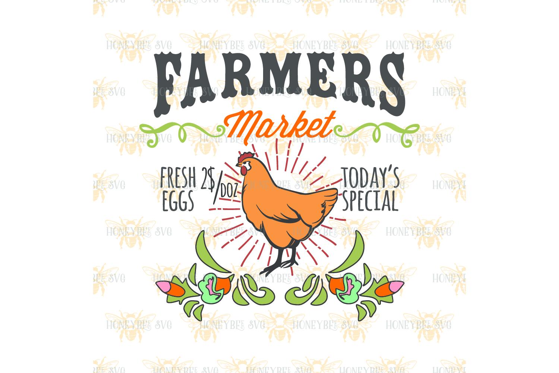 Farmers Market Chicken svg example image 2