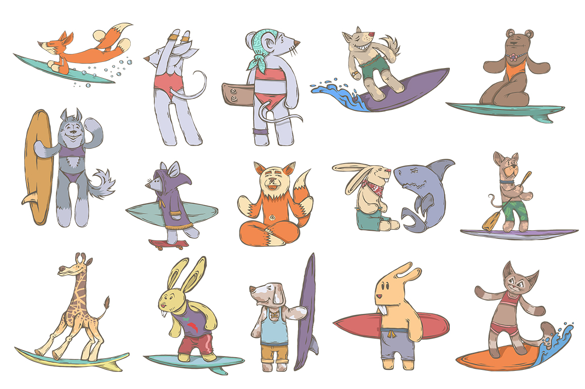 CHARACTERS Animals Surfer Kit example image 2