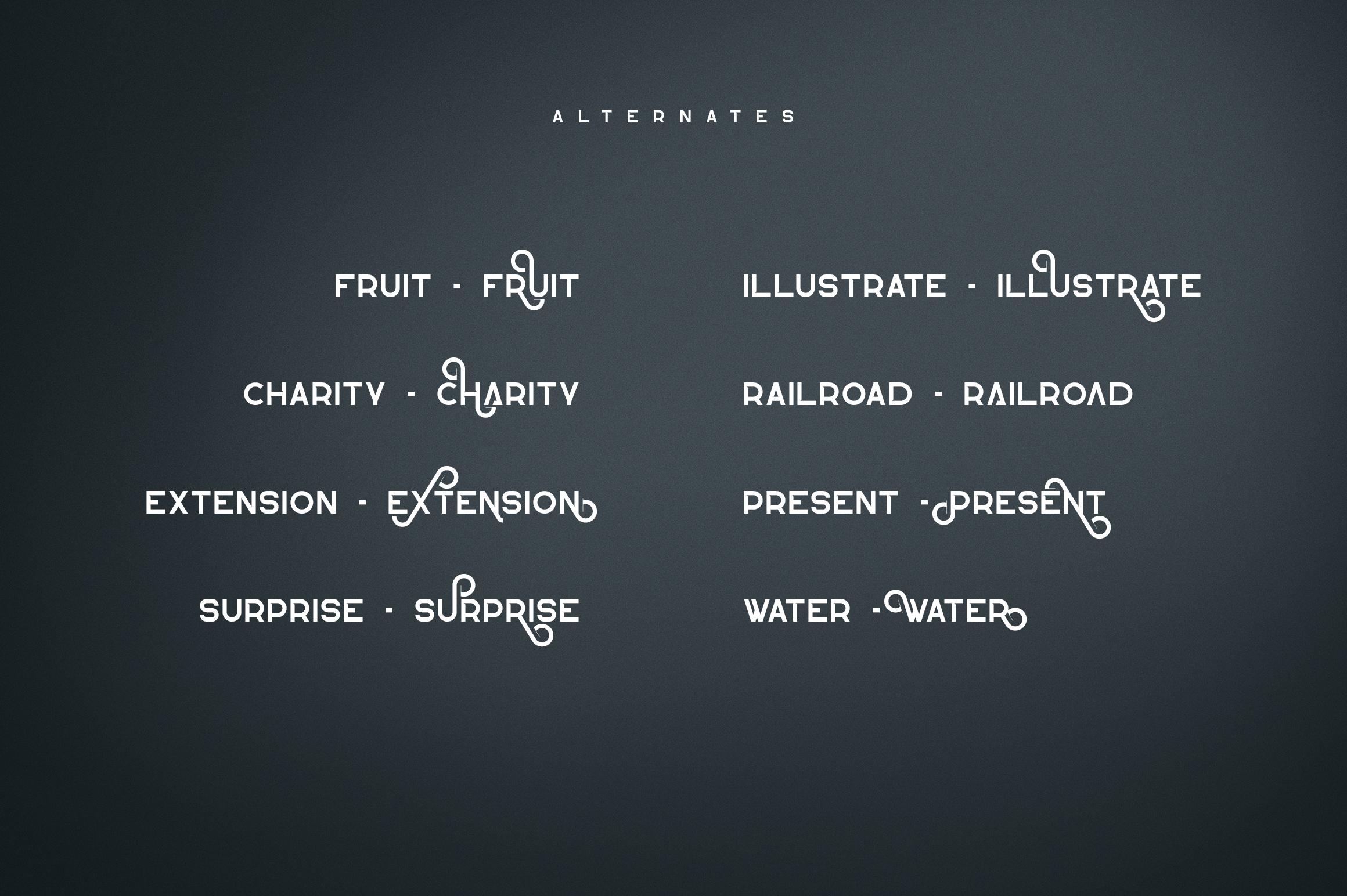 Lotus Eater - sans serif font example image 10