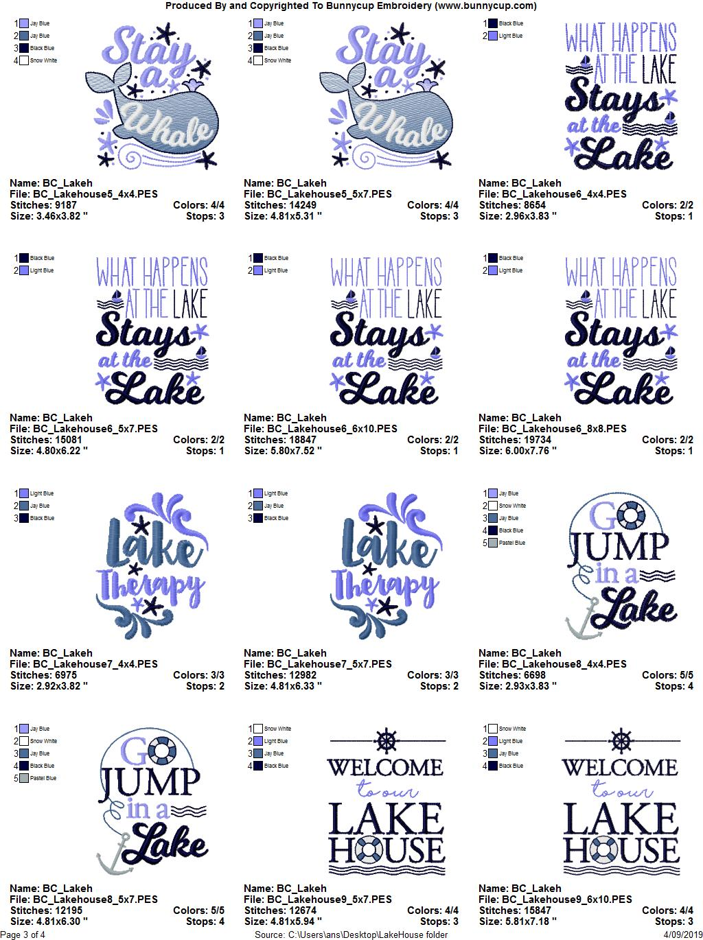 Lake House - 15 Machine Embroidery Designs example image 19