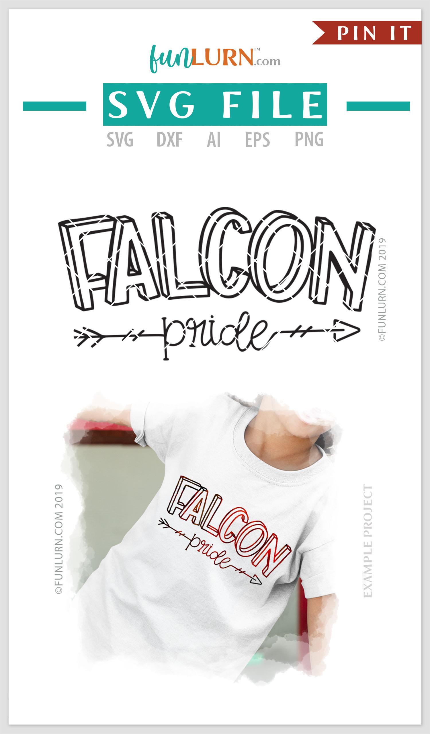 Falcon Pride Team SVG Cut File example image 4
