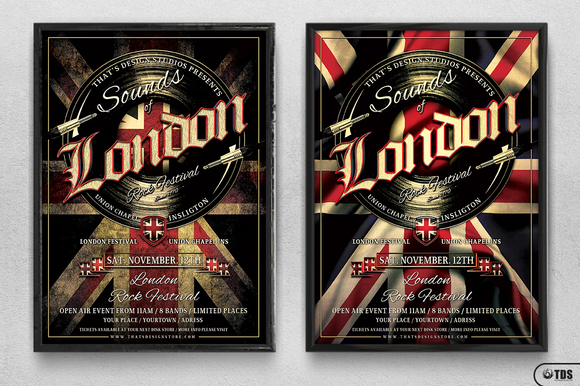 Sounds of London Flyer Template example image 8