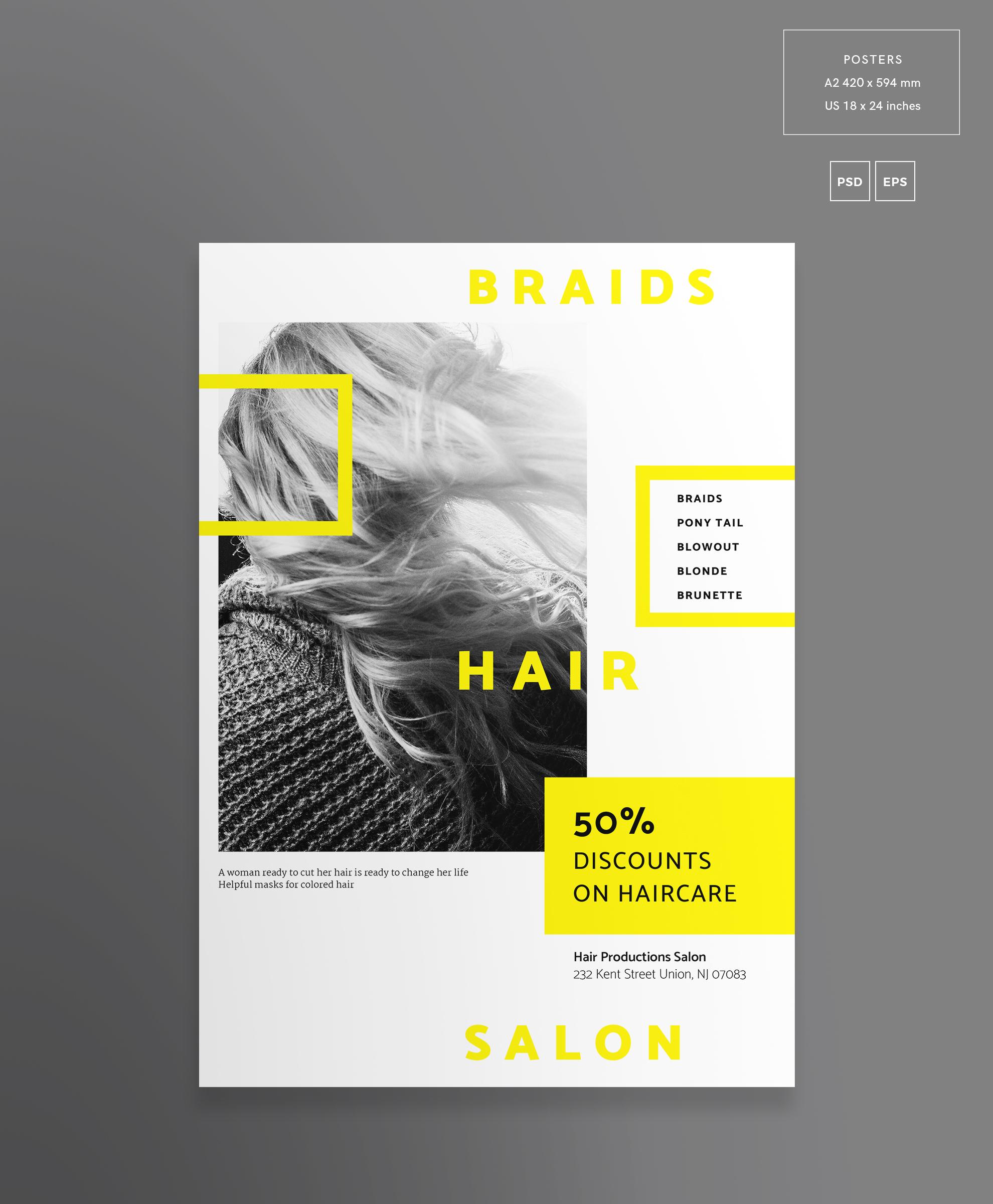 Hair Salon Barbershop Design Templates Bundle example image 9