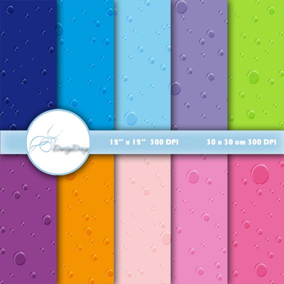 Digital paper Raindrop example image 1