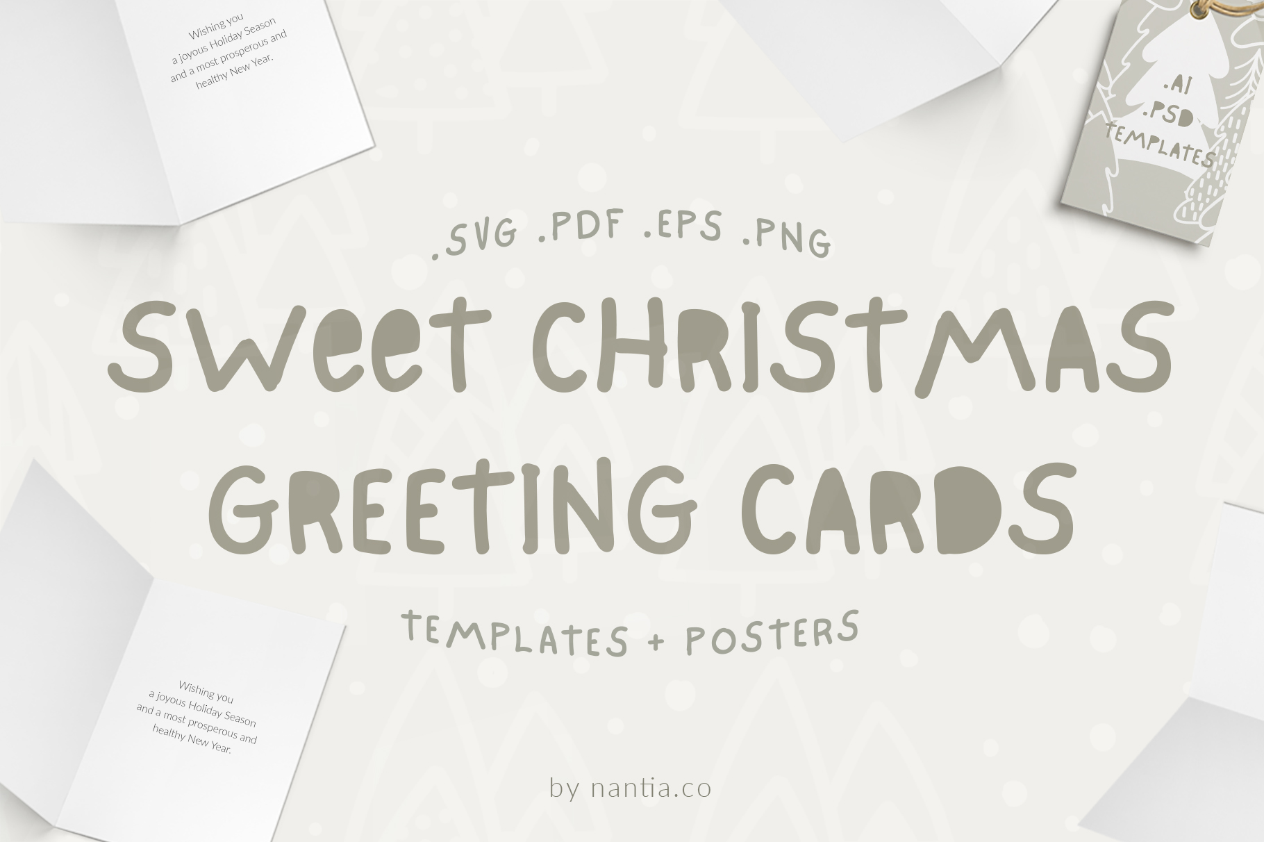 Sweet Christmas Cards & Posters example image 1