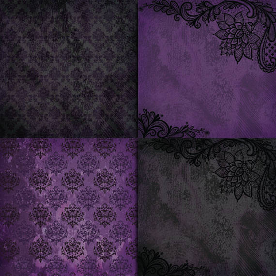 Grunge Purple Digital Paper example image 2