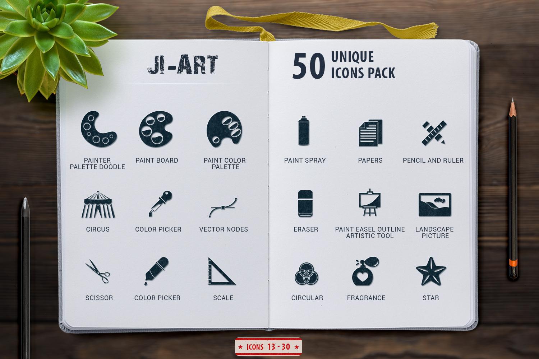 Glyph Art Icons Set example image 6