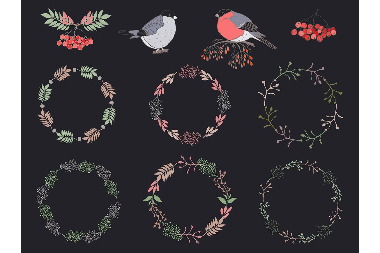 Sketch birds. Vector set. example image 7
