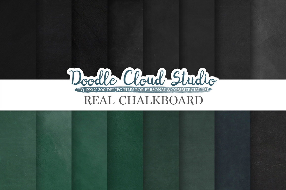 Real Chalkboard digital paper, Green / Back chalkboard Backgrounds, dirty / clean schoolboard textures, Instant Download, Commercial Use example image 3