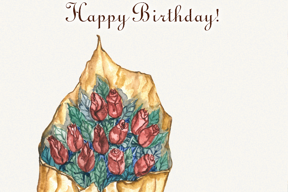 Birthday clipart, watercolor, happy birthday clipart example image 5