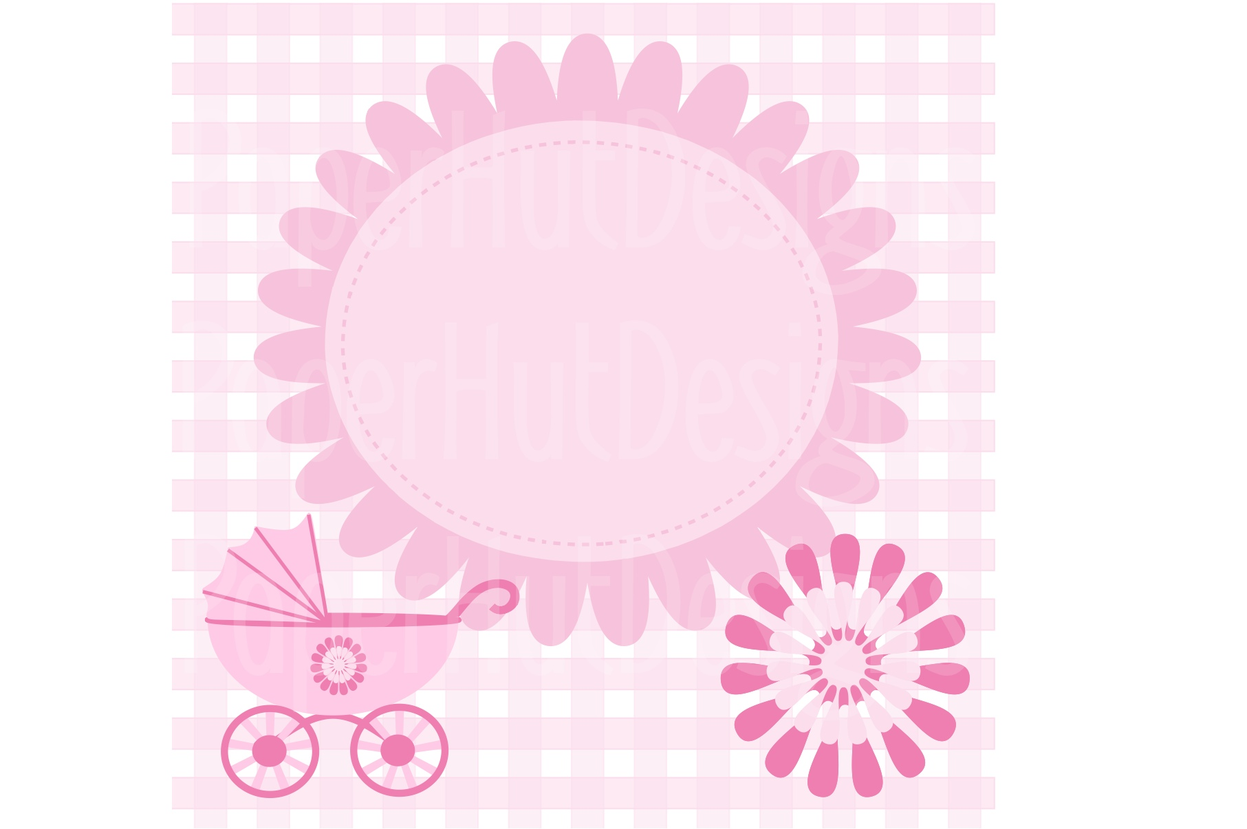 Baby Girl Clipart and Digital Papers Set example image 4