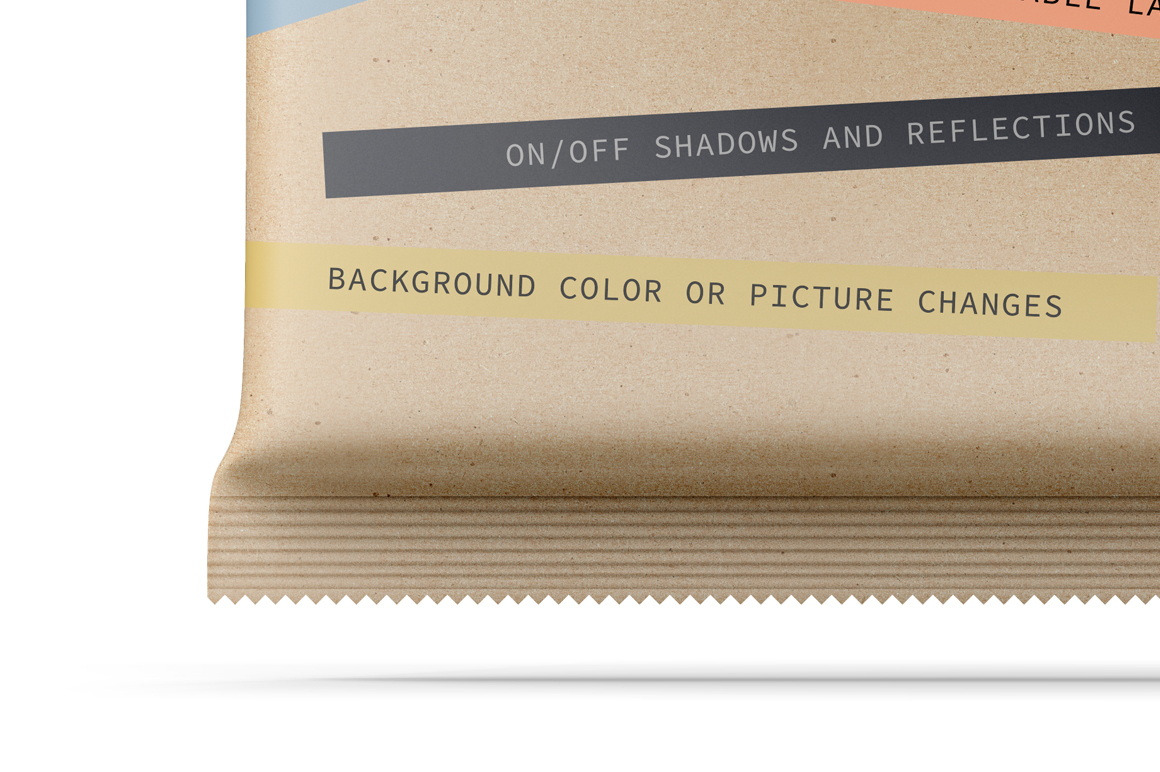 Kraft Snack Package Mockup Front & Back View example image 3