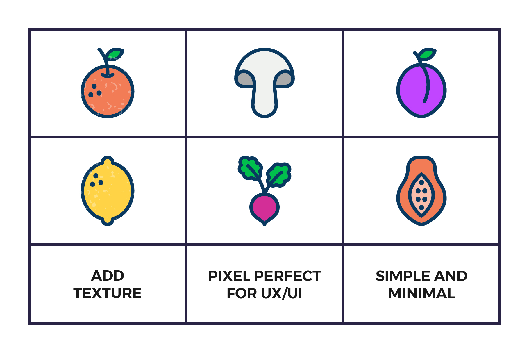 Fruit and Vegetables Icon Set example image 3