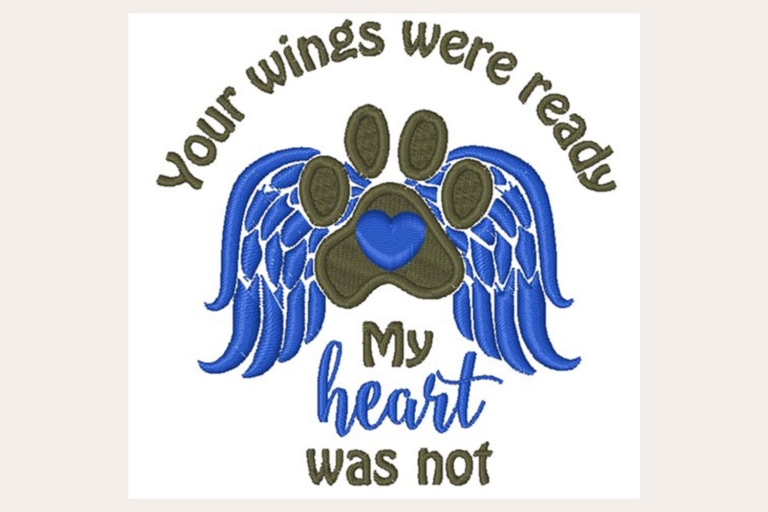 Wings Were Ready -Machine Embroidery Design example image 1