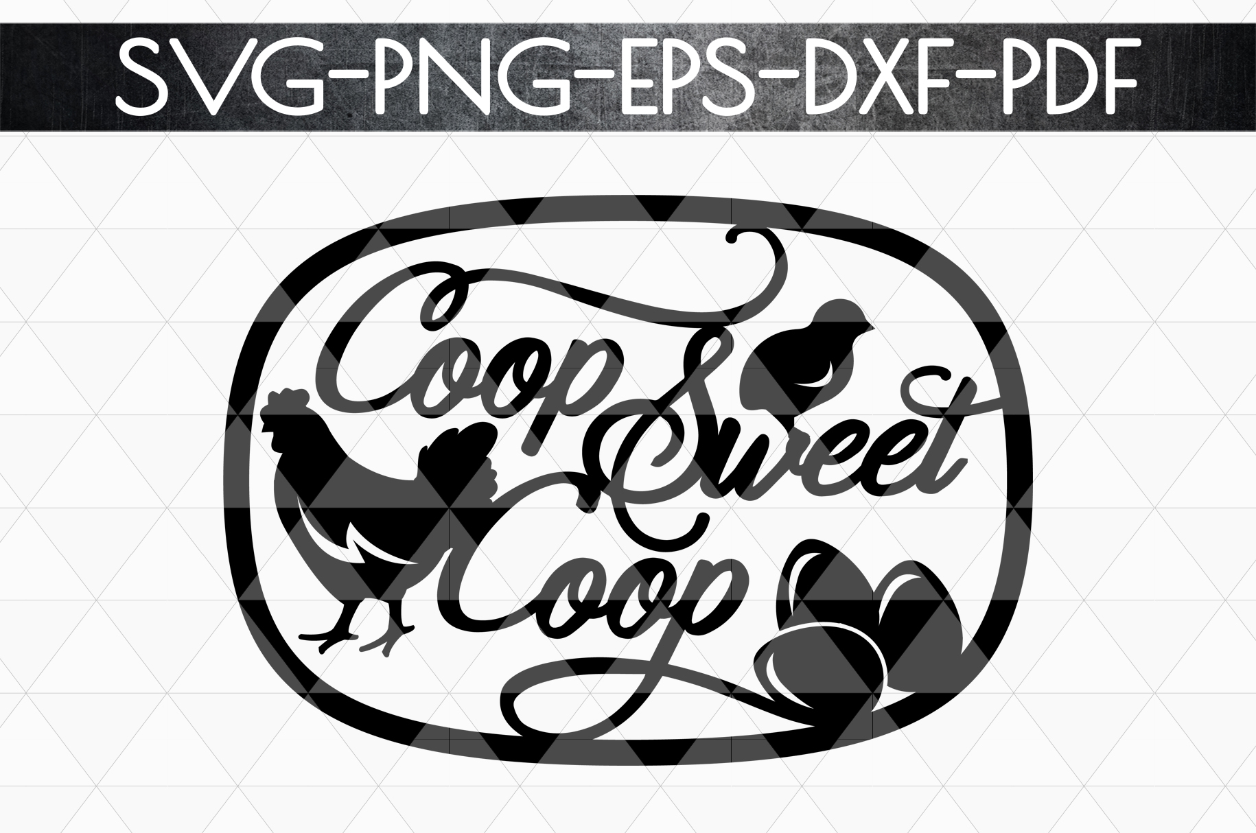 Coop Sweet Coop Papercut Template, Farmhouse Themed, PDF example image 4