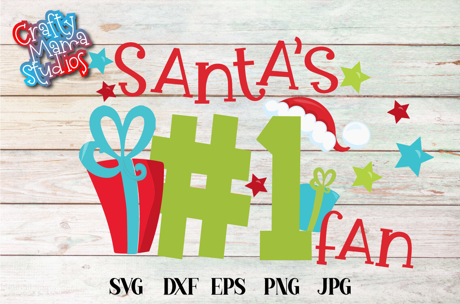 Christmas SVG, Santa's Number One Fan Sublimation example image 2