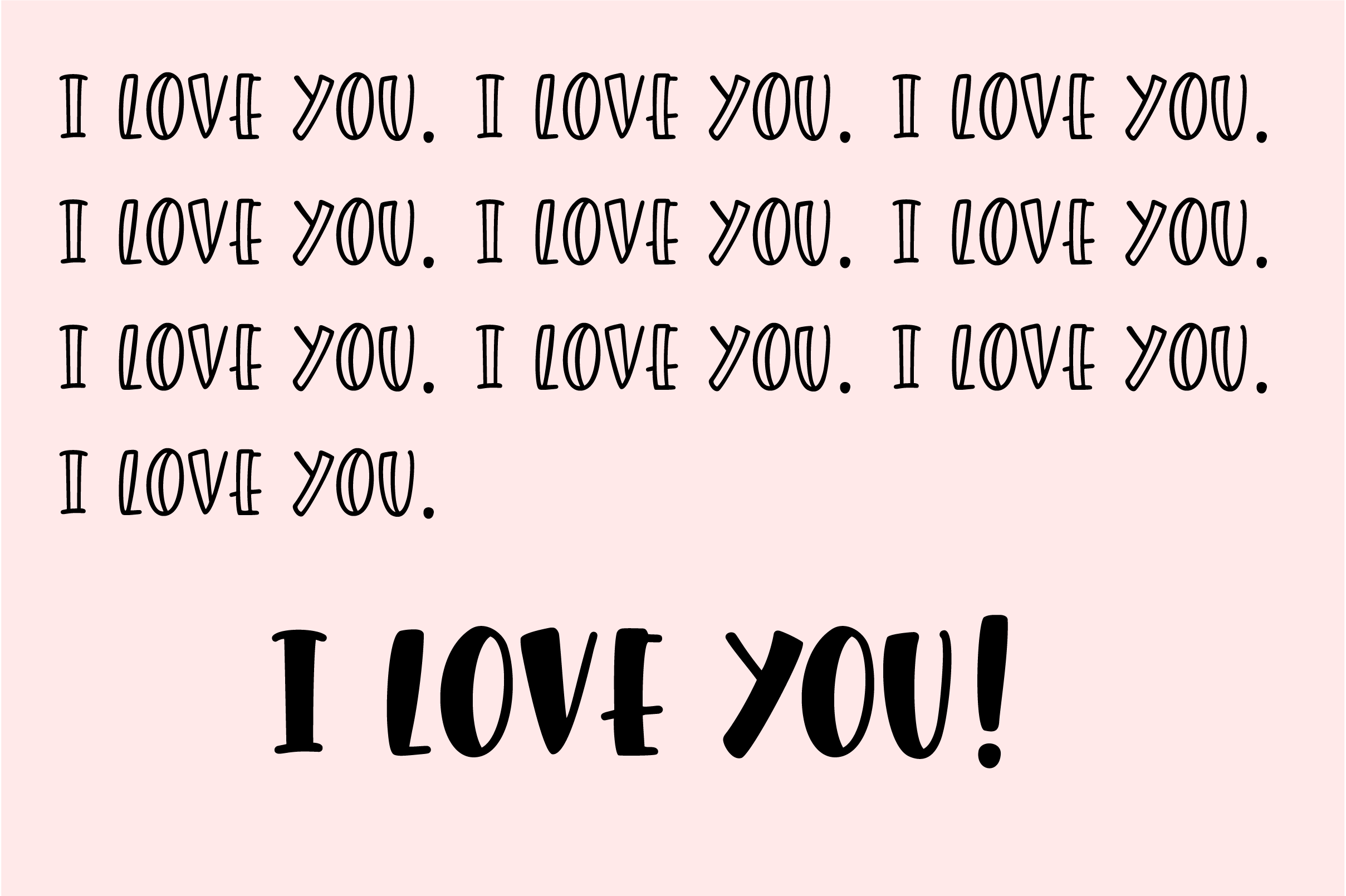 Giggle Hearts, An adorable valentine day font example image 2