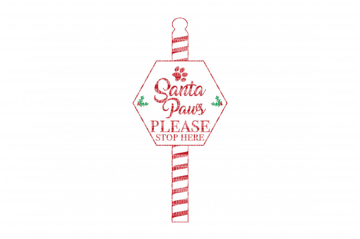 Christmas Santa Paws Cut Files Heat Transfer Vinyl Scrapbooking Stencil EPS DXF Silhouette Cameo Cricut Commercial Use example image 1
