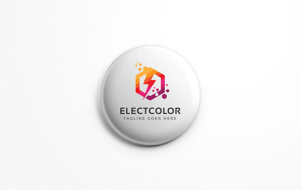Electro Colorful Hexagon Logo example image 6