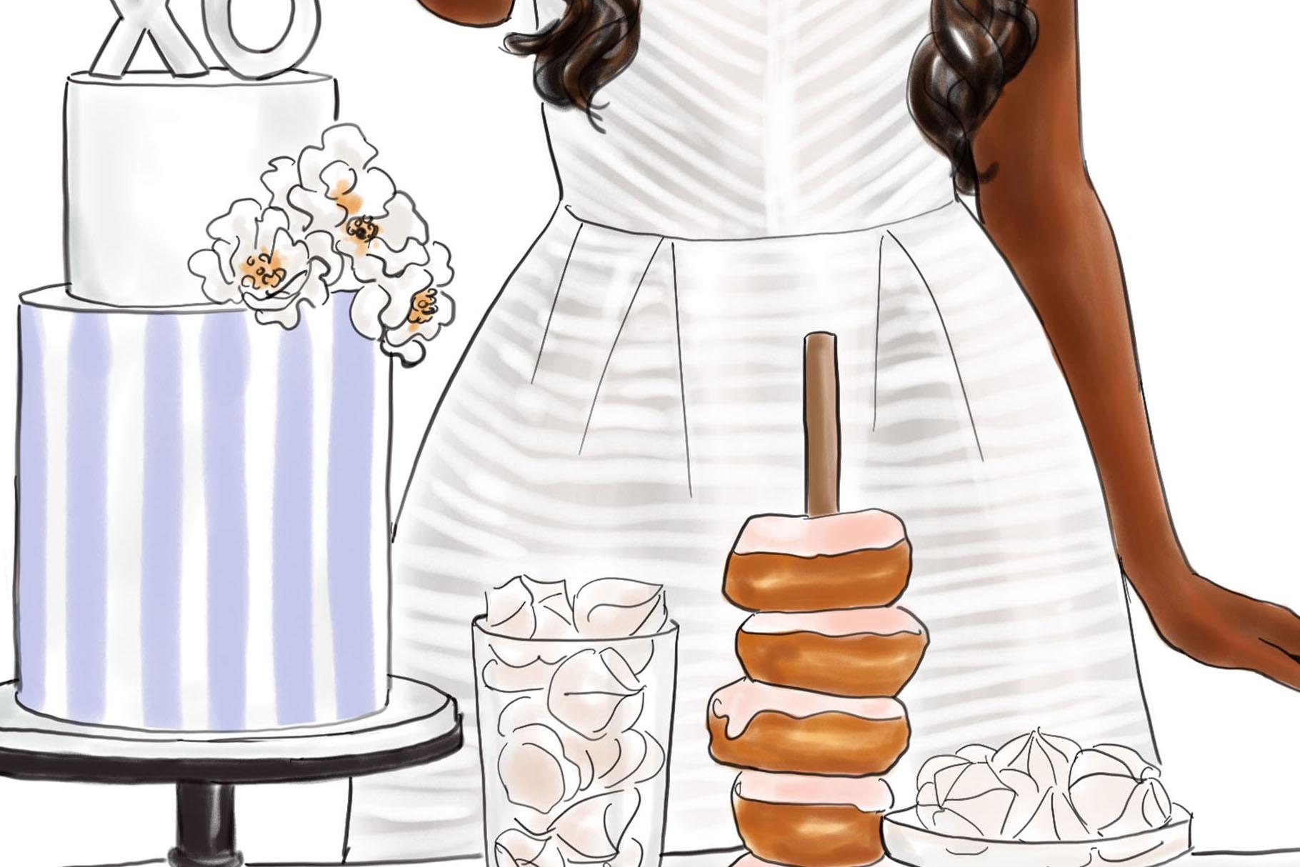 Fashion illustration - Baker Girl - Dark Skin example image 3