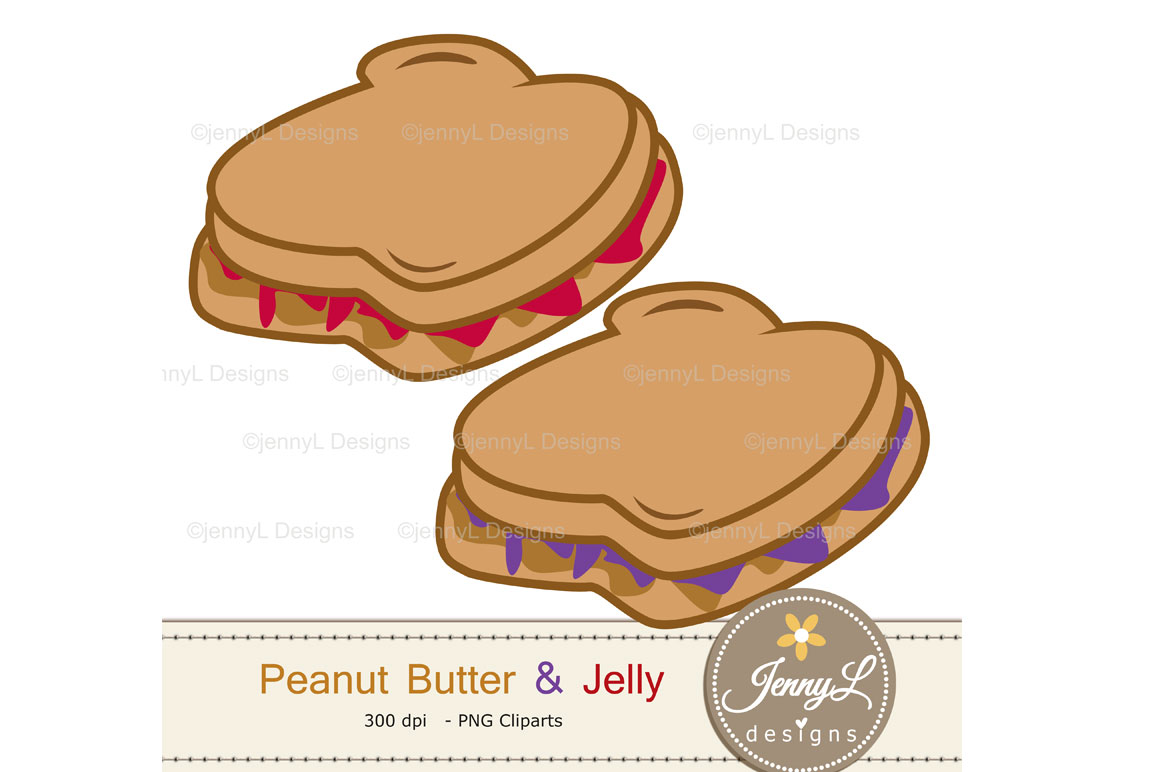 Peanut Butter and Jelly Digital Papers and Jam Clipart example image 7