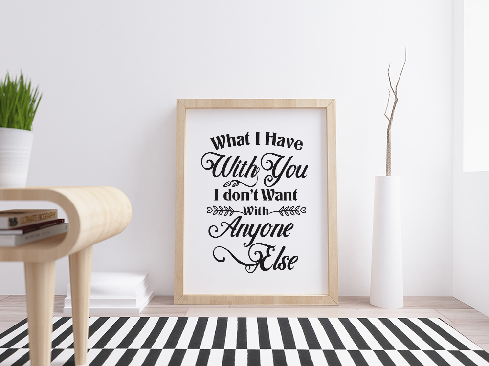 What i have with you, love svg, cut file, dxf, eps example image 2