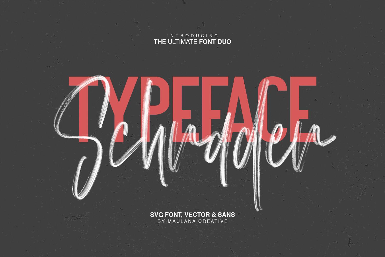 Schrader SVG Brush Font example image 2