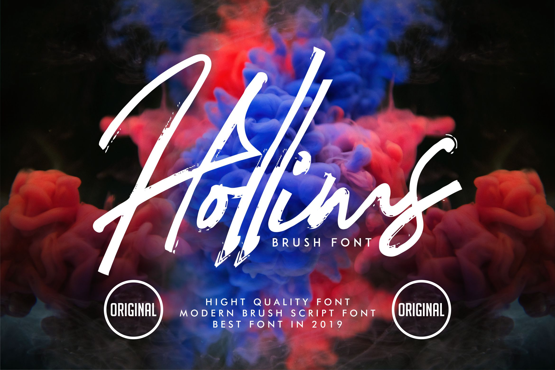 Hollims | Brush Script Font example image 1
