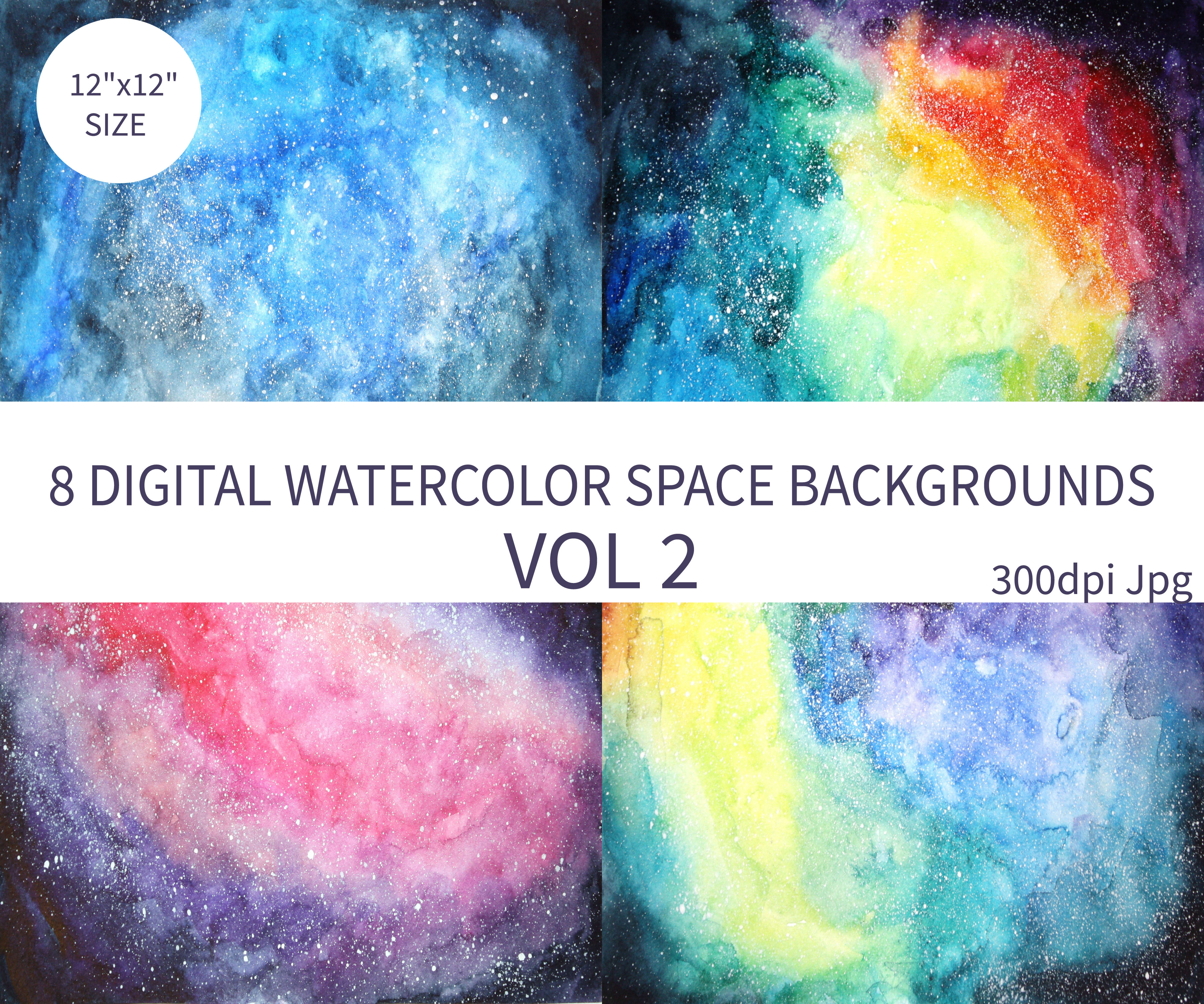 Watercolor Space Background example image 2