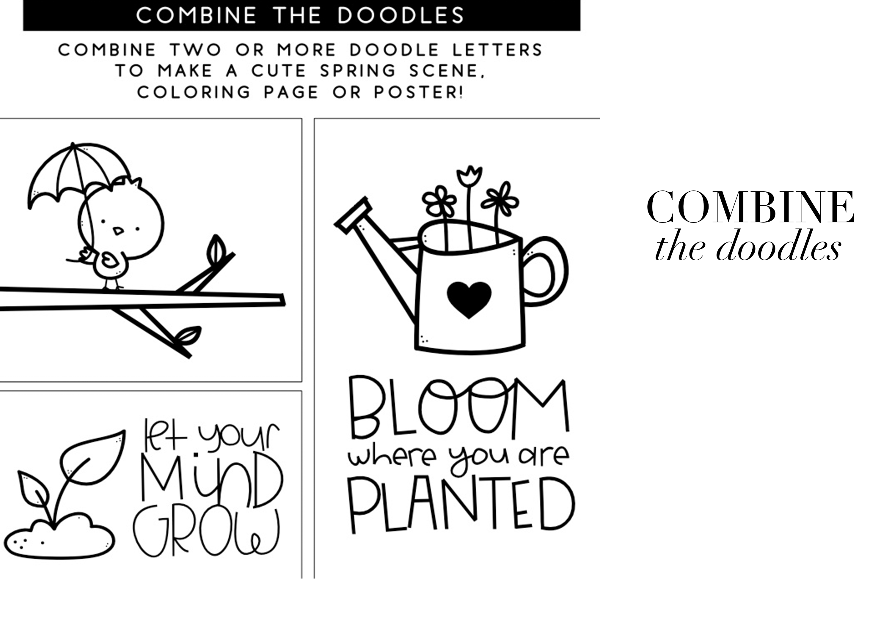 Spring Fling - A Doodle Font example image 5