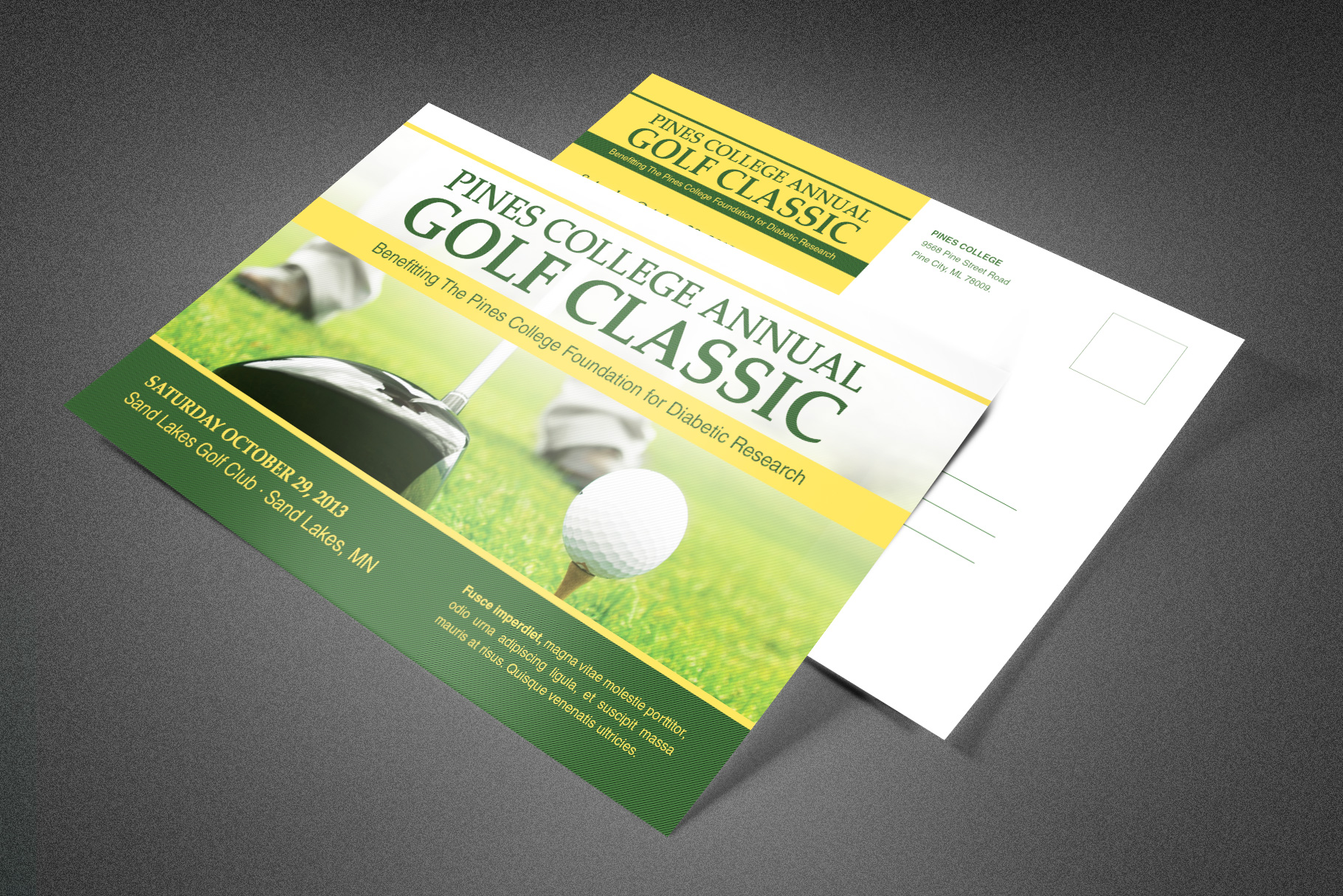 Golf Classic Postcard Template example image 1