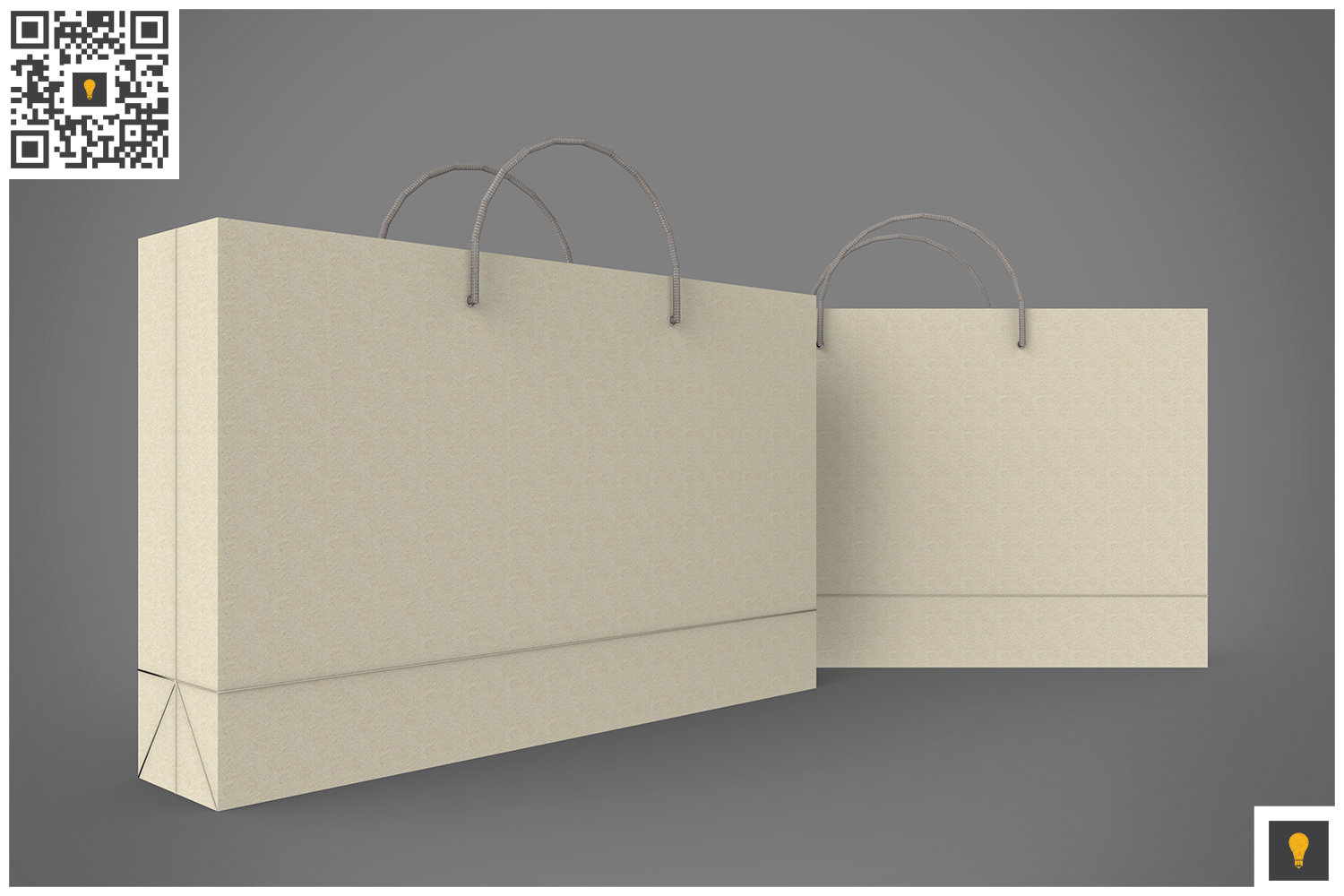 Shopping Bag 3D Render example image 15