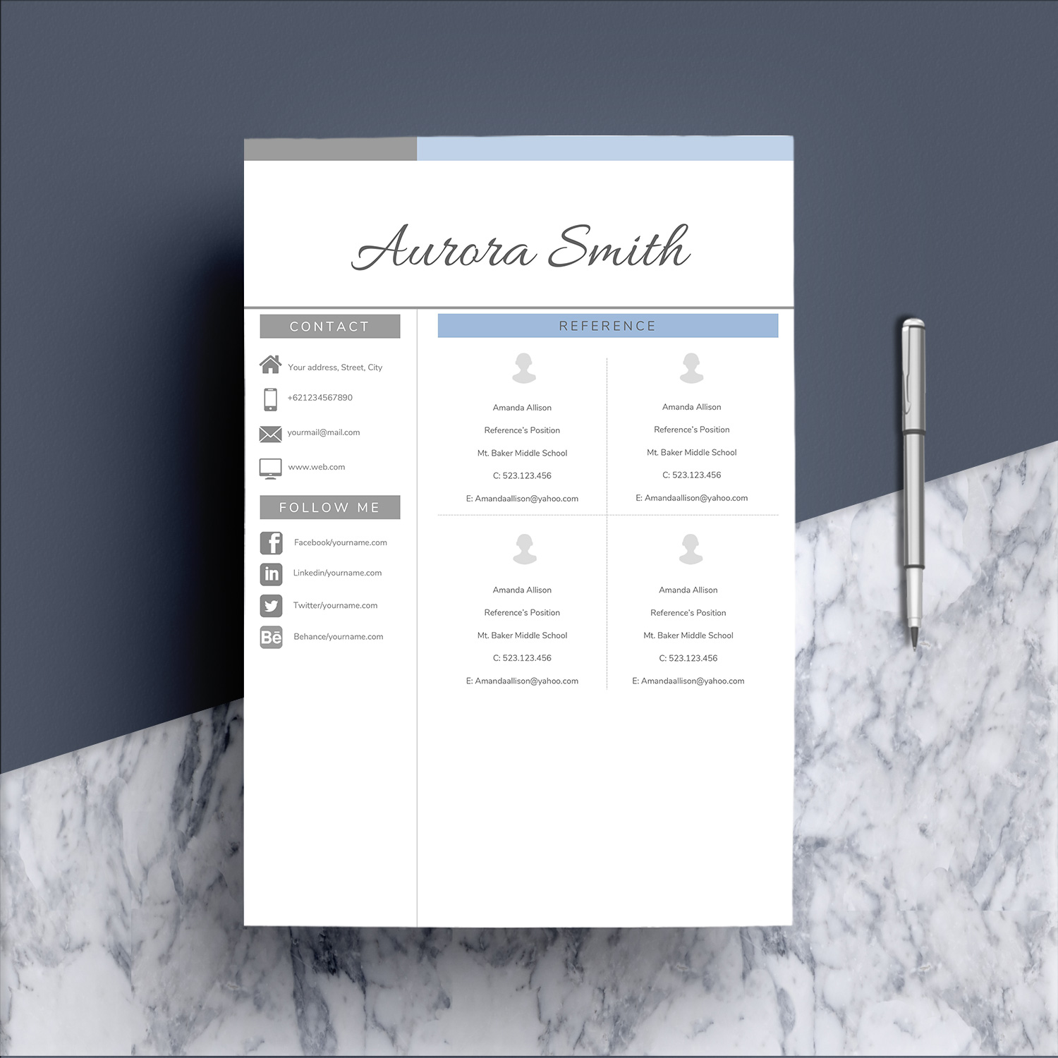 Resume Template Word CV example image 8